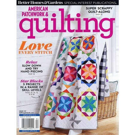American Patchwork & Quilting-April 2019-Rustic Mountain Snowflake
