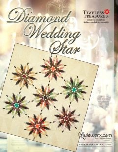 Heirloom Diamond Wedding Star Quilt Kit - includes Fabric + Pattern +Creative Grid Templates - copy