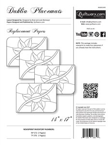 DAHLIA PLACEMATS EXTRA PAPERS