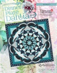 Dinner Plate Dahlia Queen Pattern 99 x 99