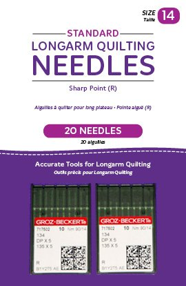 Standard Longarm Needles � Two Packages of 10 (14/90-R, Sharp)