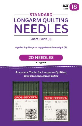 Standard Longarm Needles � Two Packages of 10 (18/110-R, Sharp)