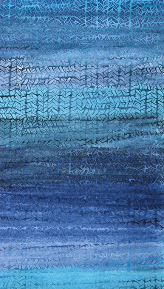 Hand Painted Batik in Blue Sky Tango from Anthology Fabrics