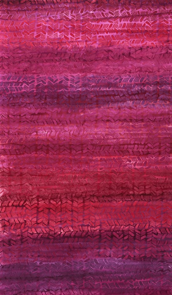 Hand Painted Batik in Berry Tango from Anthology Fabrics