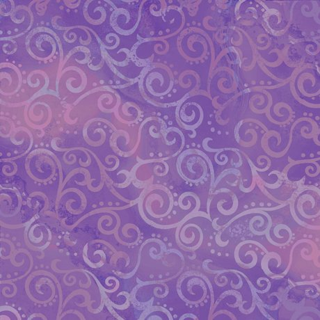 Ombre Scroll in Wisteria from Quilting Treasures
