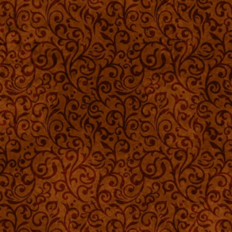 Woodland Spirit Scroll in Brown from Quilting Treasures