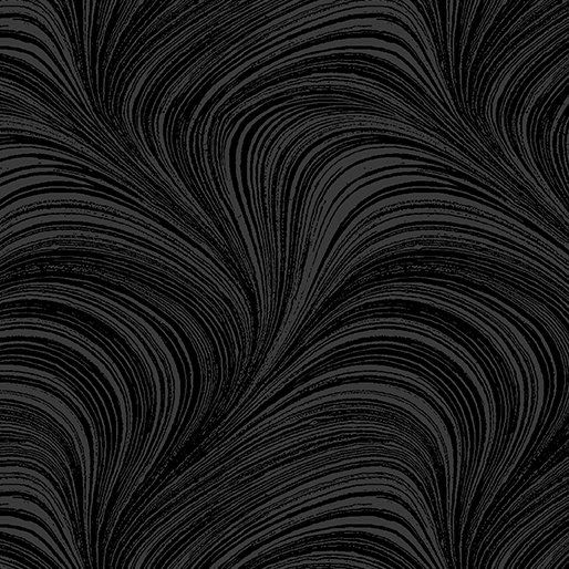 Wave Texture in Black from Benartex Fabrics