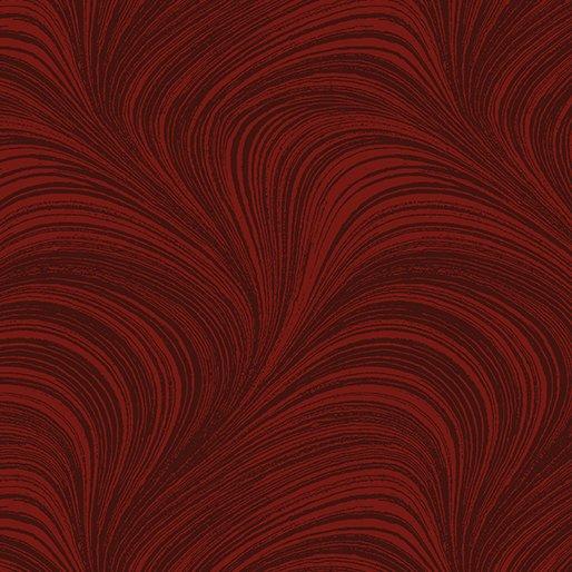Wave Texture in Dark Red from Benartex