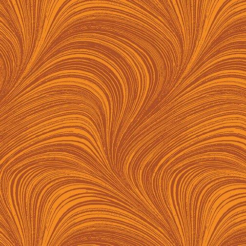 Wave Texture in Pumpkin  from Benartex Fabrics