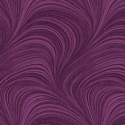 Wave Texture in Plum from Benartex Fabrics