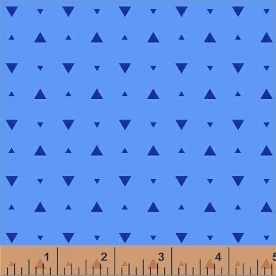 Elements Optic Triangle in Cerulean by Another Point of View from Windham Fabrics