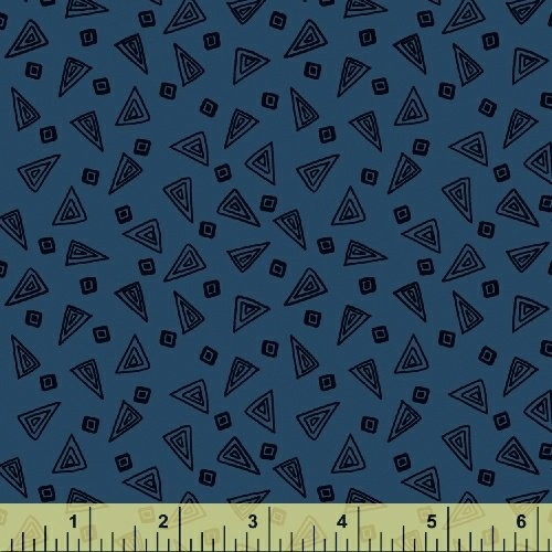 Fiesta Triangles in Cobalt from Windham Fabrics