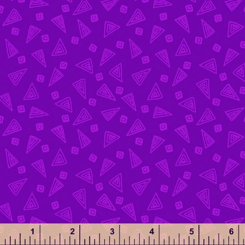 Fiesta Triangles in Mulberry from Windham Fabrics