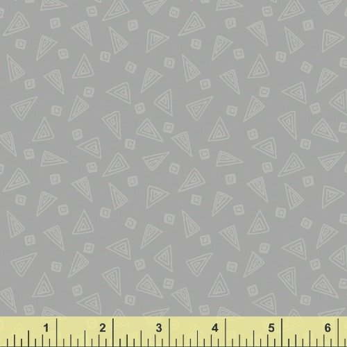 Fiesta Triangles in Slate from Windham Fabrics