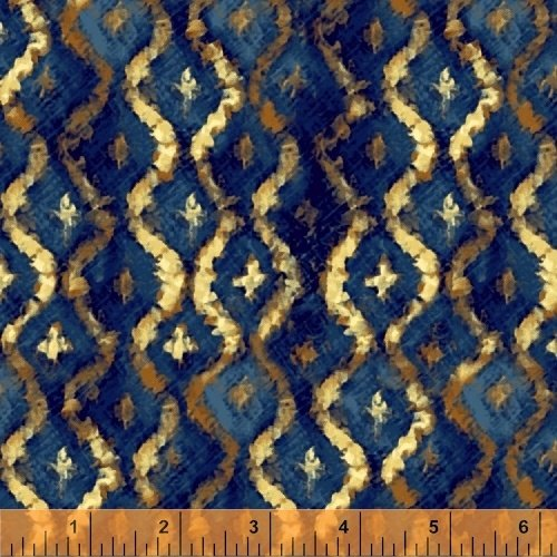 Three Kings Brocade in Sapphire from Windham Fabrics