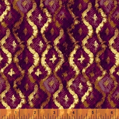 Three Kings Brocade in Amethyst from Windham Fabrics