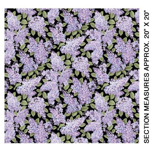 Lilacs in Bloom Lilacs in Bloom Black from Benartex