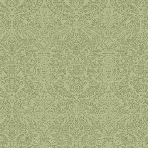Lilacs in Bloom Damask Light Green from Benartex