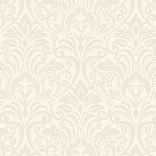 A Festival of Roses Festive Damask Cream from Benartex