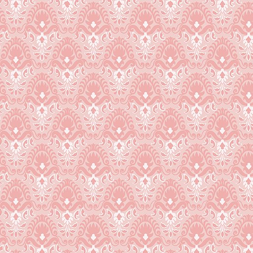 Magnificent Blooms Nouveau-Light Pink- by Jacke Robinson from Benartex Fabrics