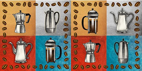 Brewed Awakenings - Coffee Pots - from Blank Quilting