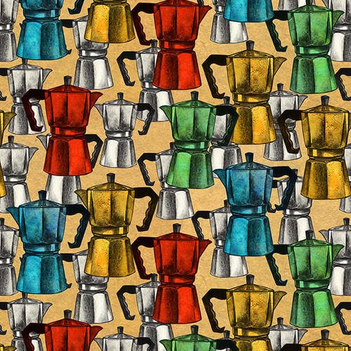 Brewed Awakenings -Espresso Pots - from Blank Quilting