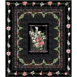 Log Cabin Frames by Jackie Robinson of Animas Quilts