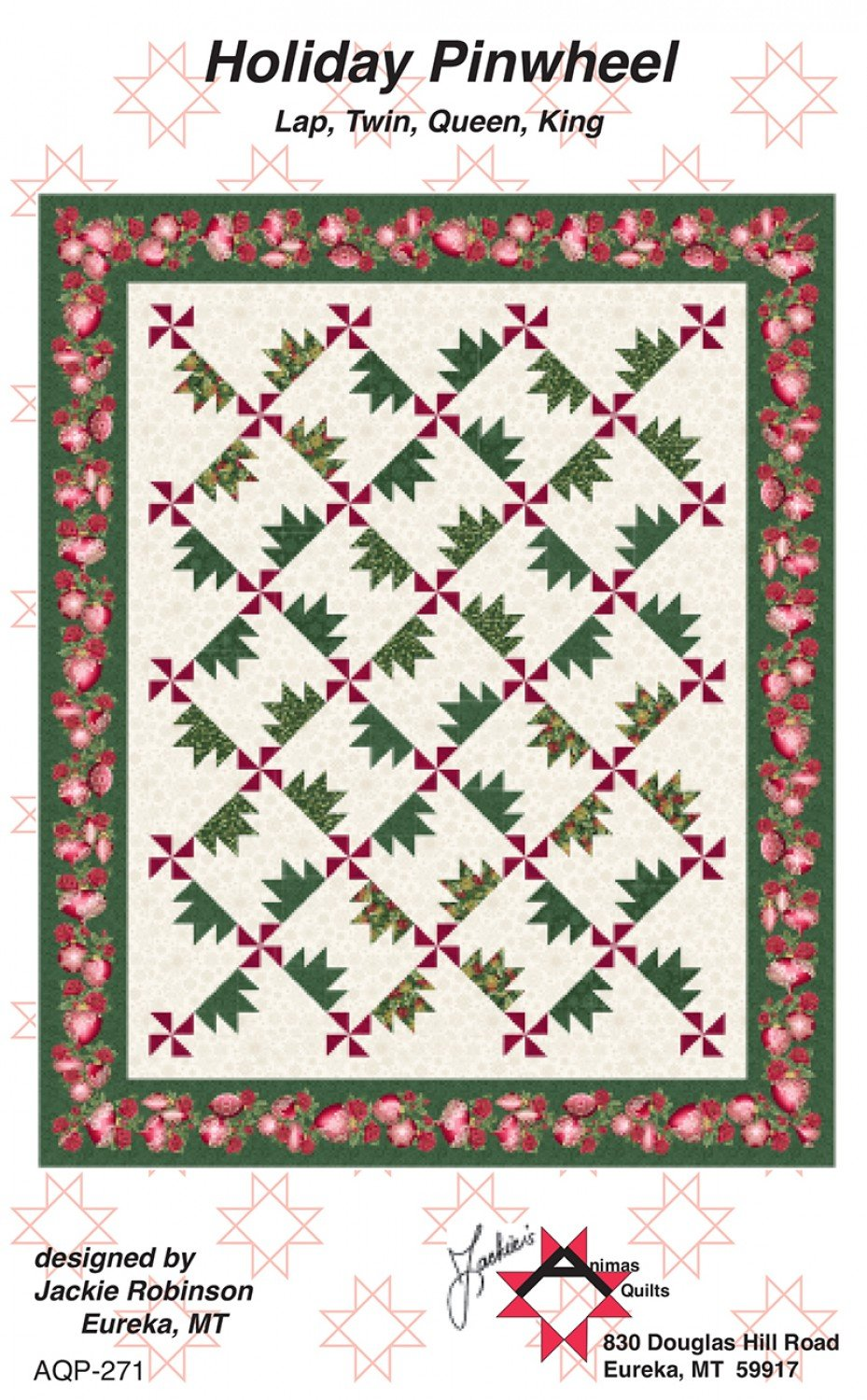 Holiday Pinwheel Pattern from Jackie Robinson of Animas Quilts