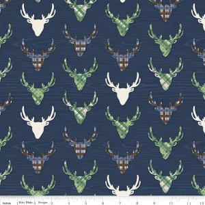 The Great Outdoors Dear in Navy by Riley Blake Designs