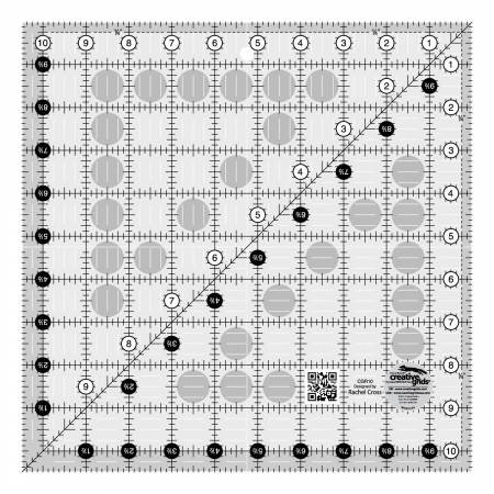 Creative Grids Quilt Ruler 10-1/2in x 10-1/2in