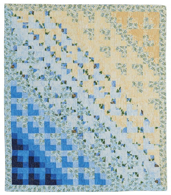 Color Drift Quilt Kit in Hydrangea Blue featured in Fons & Porter's Easy Quilts