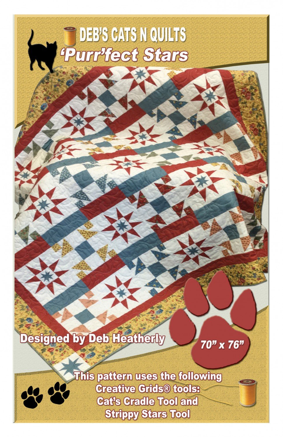 'Purr'fect Stars from Deb's Cats N Quilts