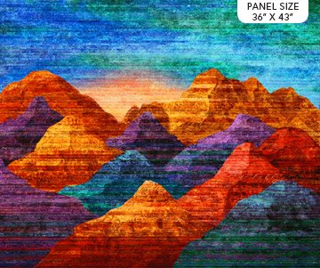 Mountain Vista Panel - Northcott Stonehenge - Sunset Colorway