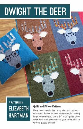 Dwight the Deer Quilt Pattern by Elizabeth Hartman