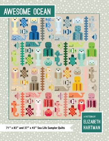 Awesome Ocean Quilt Pattern by Elizabeth Hartman