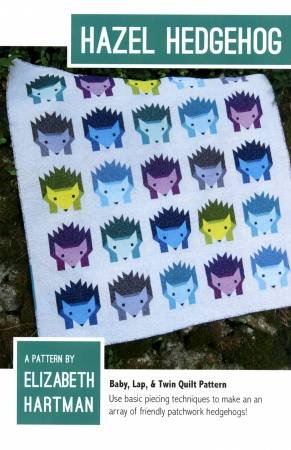 Hazel the Hedgehog Quilt Pattern by Elizabeth Hartman