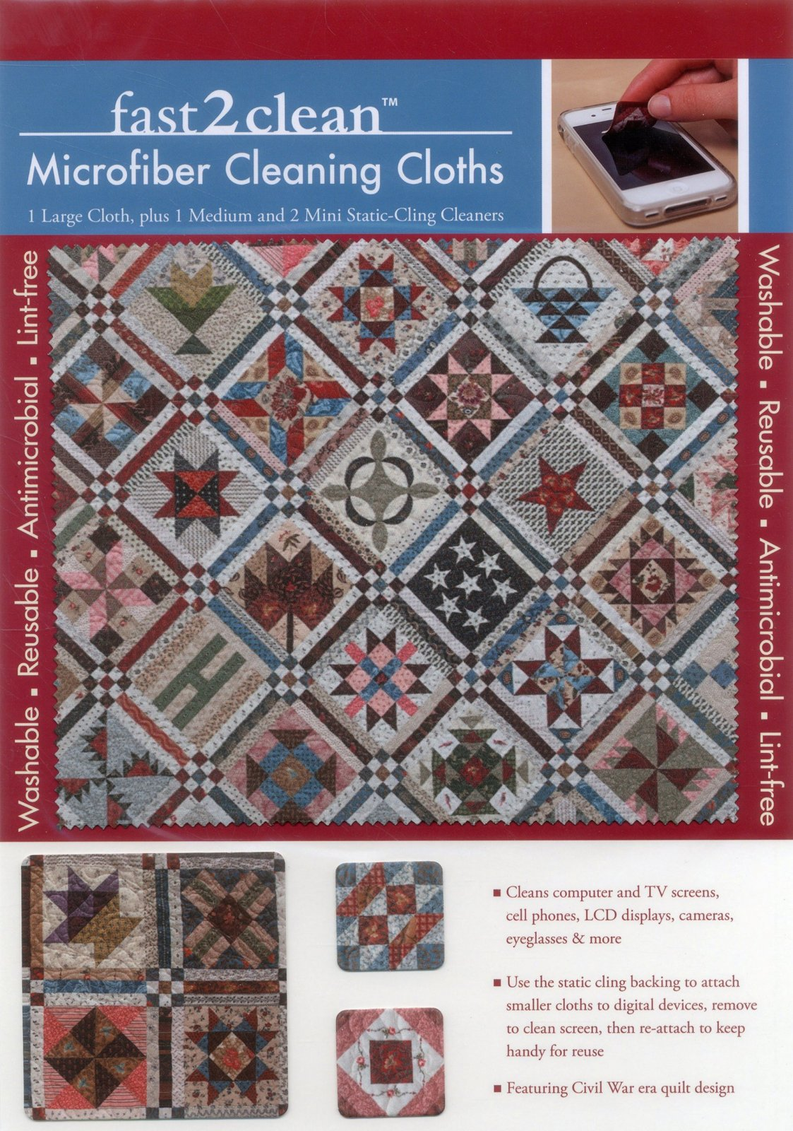 fast2clean Civil War Sampler Microfiber Cleaning Cloths
