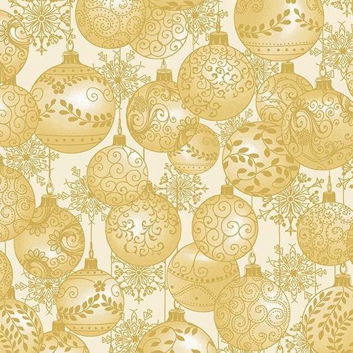 A Festive Season Hanging Ornaments in Cream from Benartex