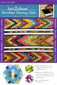 fast2clean Hexa-Go-Go Hexagon Quilt Microfiber Cleaning Cloths
