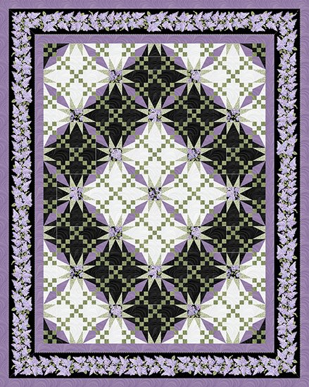 Illusion Kit in Lap, Featuring Lilacs in Bloom from Benartex