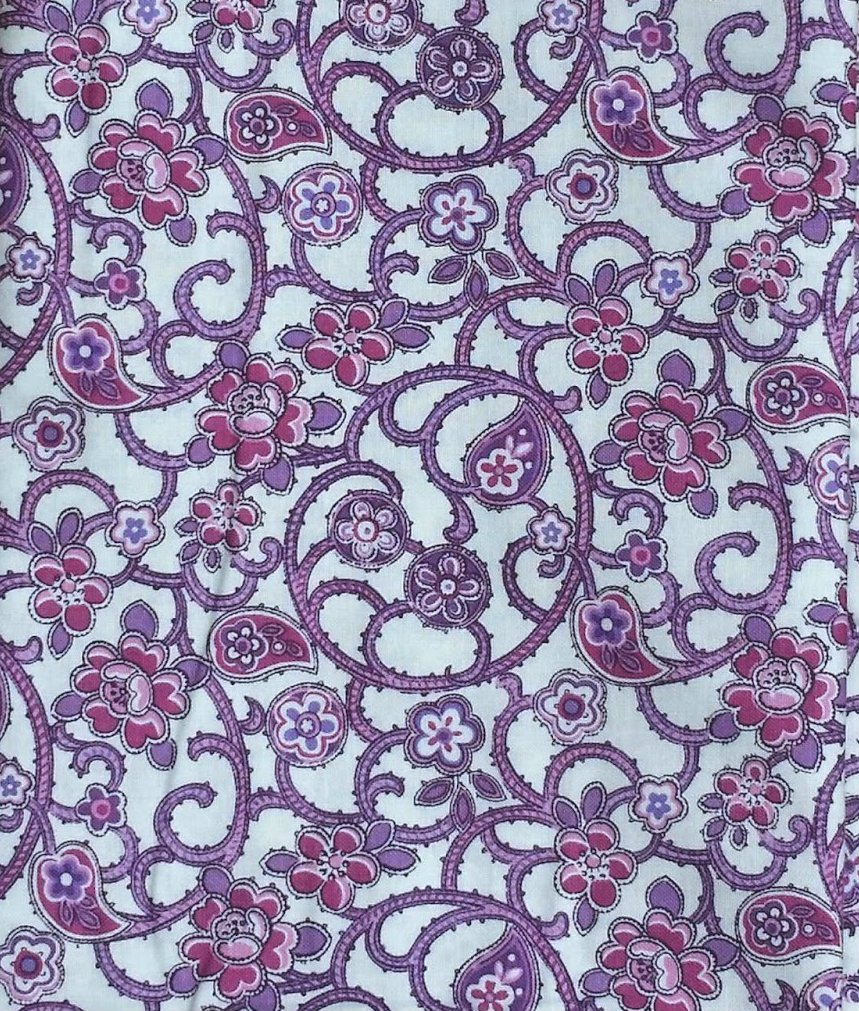 Inspiration IV Flowered Paisley Vines In Lilac from Blank Quilting