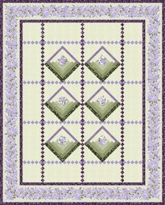 Lilac Baskets Kit in Twin, Featuring Lilacs in Bloom from Benartex