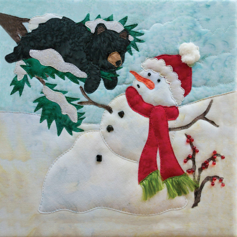 Melt Down Snow Buds Art Print Panel from Pine Needles by McKenna Ryan