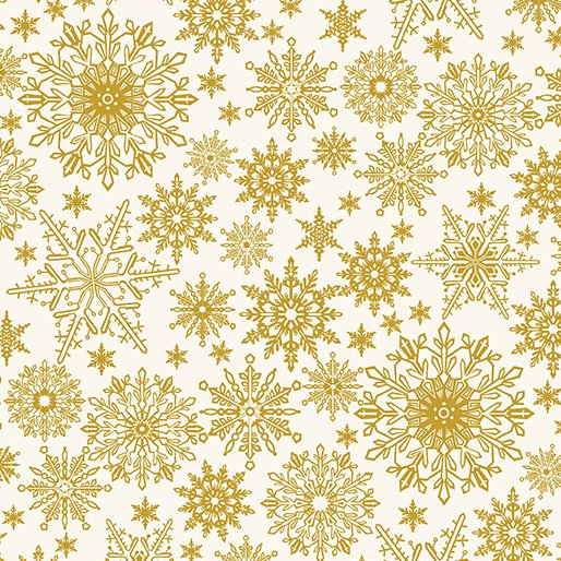 A Festive Season Metallic Snowflake in Golden from Benartex