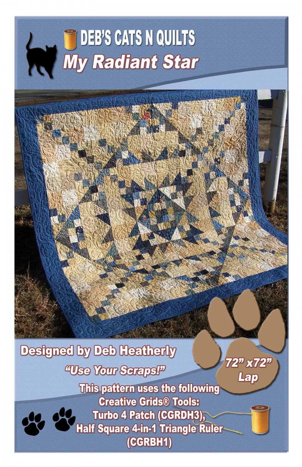 My Radiant Star from Deb's Cats N Quilts