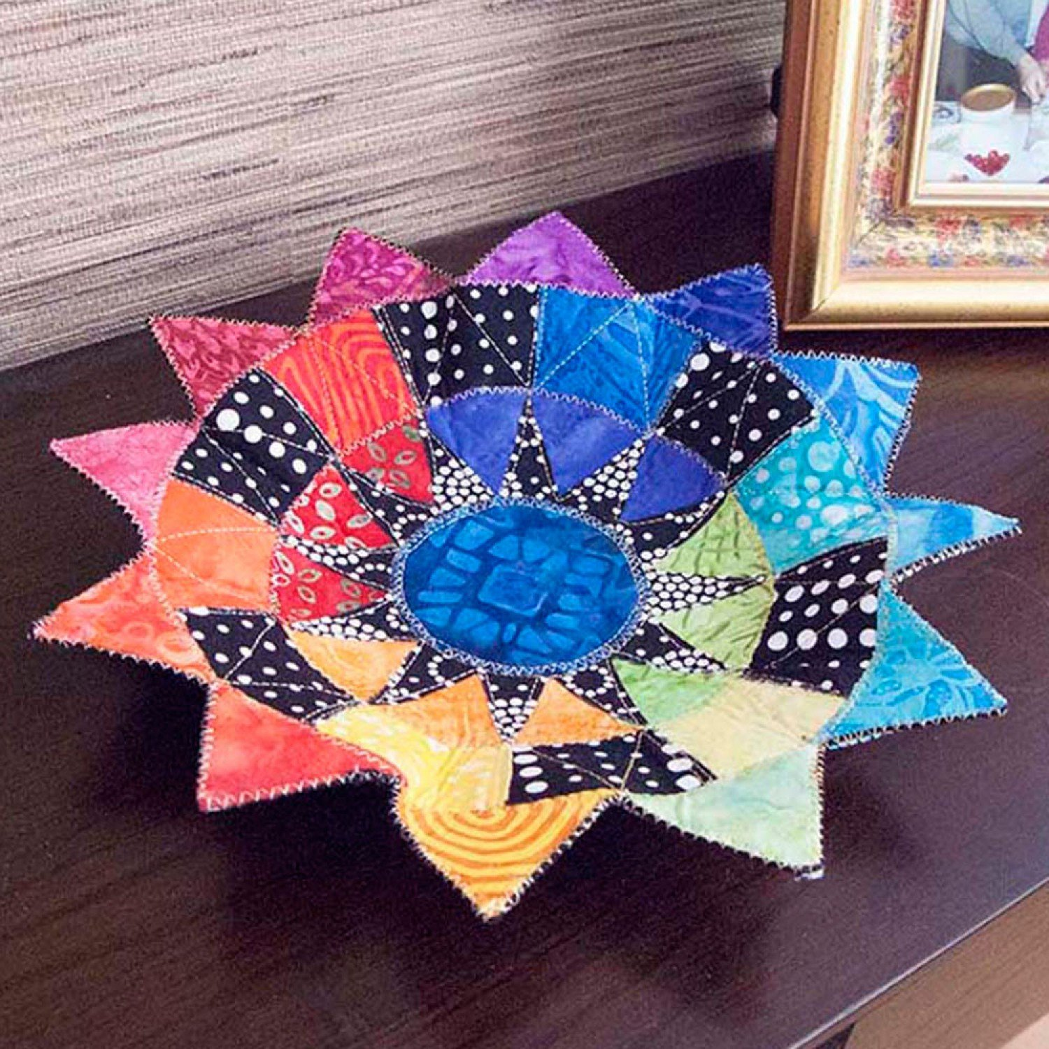 New York Beauty Bowl from Poorhouse Quilt Designs