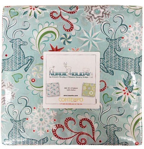 Nordic Holiday from Contempo Studio 10 X 10 Pack--42 pieces