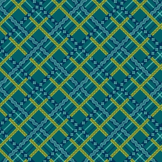 Pieceful Gathering Plaid in Teal from Studio E Fabrics