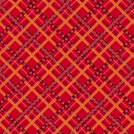 Pieceful Gathering Plaid in Red from Studio E Fabrics
