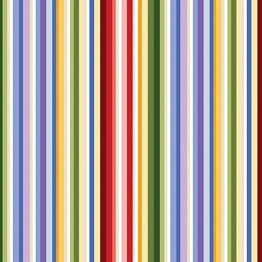 Wildflower Meadow Rainbow Stripe in Multi from Benartex Fabrics